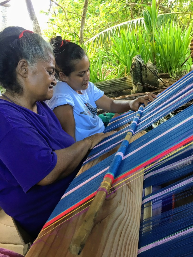 Micronesian Weaving of Lavalava Skirts on Backstrap Loom
